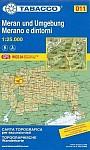 Tabacco Wandern 1 : 25 000 Meran und Umgebung