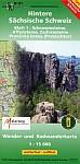 Hintere Sächsische Schweiz Blatt 01. Schrammsteine, Affensteine, Zschirnsteine 1 : 15 000