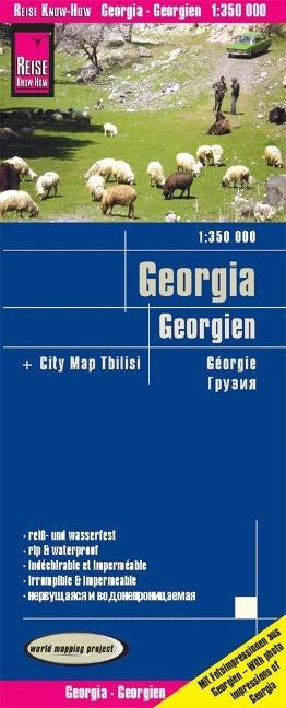 Reise Know-How Landkarte Georgien 1 : 350.000