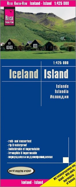 Reise Know-How Landkarte Island  1 : 425.000