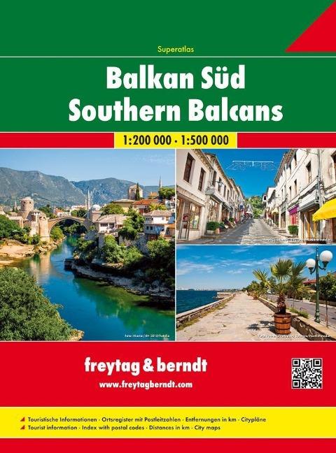 Balkan Süd - Serbien - Montenegro - Kosovo - Mazedonien - Albanien 1 : 200 000 / 1 : 500 000