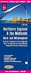 Reise Know-How Landkarte Nord- und Mittelengland / Northern England & the Midlands (1:400.000)