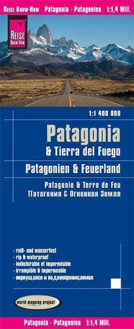 Reise Know-How Landkarte Patagonien, Feuerland / Patagonia, Tierra del Fuego (1:1.400.000)