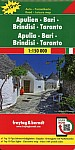 Apulien - Bari - Brindisi - Taranto, Top 10 Tips, Autokarte 1:150.000