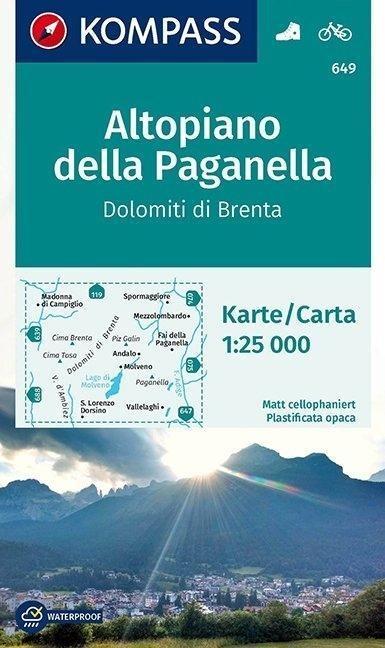 Altopiano della Paganella - Dolomiti di Brenta 1 : 25 000