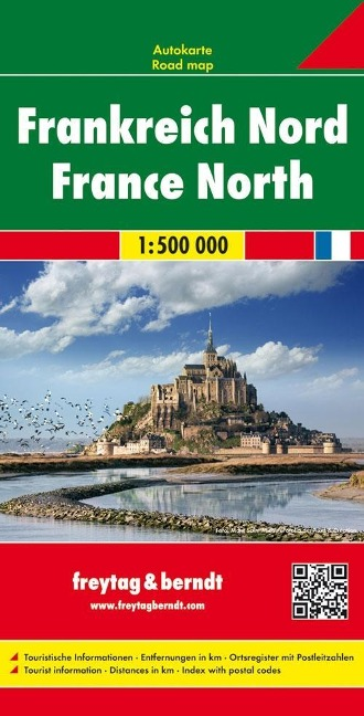 Frankreich Nord / France Nord 1 : 500 000. Autokarte