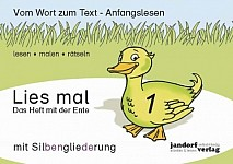 Lies mal 1 (mit Silbengliederung) - Das Heft mit der Ente