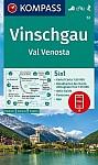 KOMPASS Wanderkarte Vinschgau /Val Venosta 1:50 000