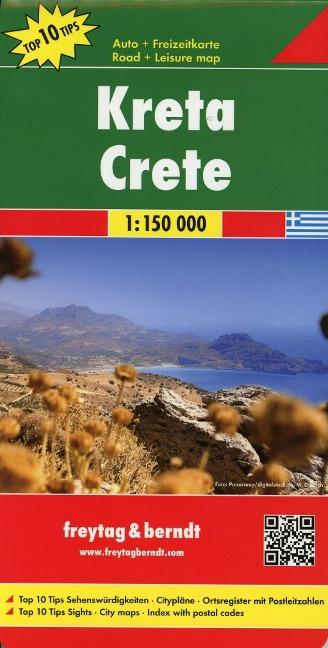 Kreta, Top 10 Tips, Autokarte 1:150.00