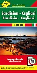 Sardinien . Cagliari, Top 10 Tips, Autokarte 1:150.000