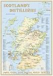 Whisky Distilleries Scotland - Tasting Map 24x34cm