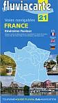 Fluviacarte 21 Voies navigables France itinéraires - Itinéraires fluviaux
