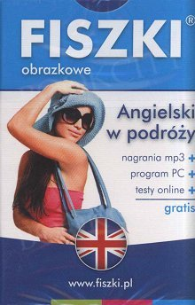Fiszki obrazkowe angielskie Angielski w podróży Fiszki + program + mp3 online
