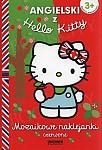 Angielski z Hello Kitty. Mozaikowe naklejanki czerwone
