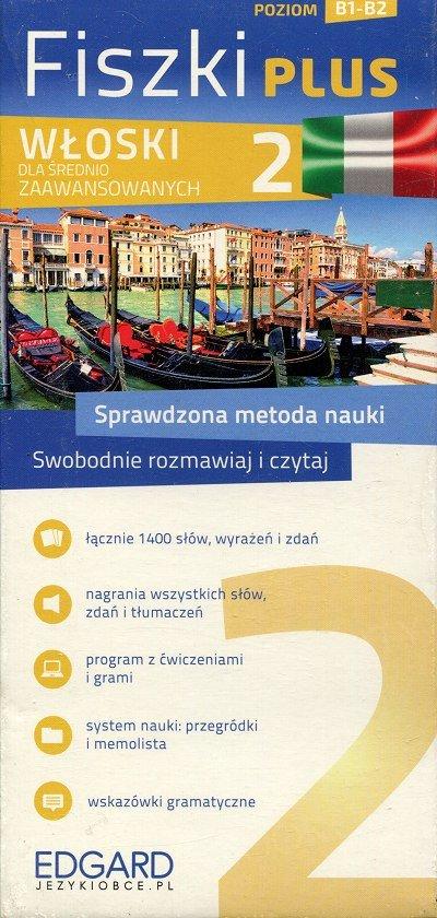 Włoski Fiszki Plus dla średnio zaawansowanych 2 Fiszki + program + mp3 online