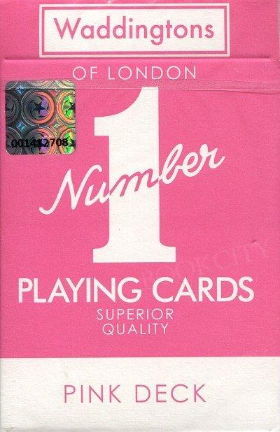 Waddingtons Pink Deck wersja angielska. Karty do gry