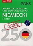 250 ćwiczeń z gramatyki Niemiecki + 250 zagadek językowych
