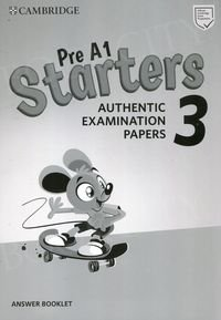 Cambridge English Pre A1 Starters 3 (2019) Answer Booklet