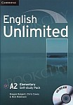 English Unlimited A2 Elementary Self-study Pack (Workbook with DVD-ROM)