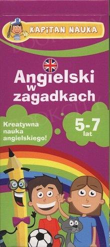 Angielski w zagadkach 5-7 lat Książeczka z kartami obrazkowymi