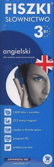 Fiszki Angielskie PREMIUM. Słownictwo 3 Fiszki + program + mp3 online