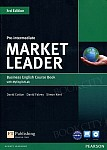 Market Leader 3rd Edition Pre-Intermediate Coursebook plus DVD-ROM plus MyEnglishLab (z kodem)
