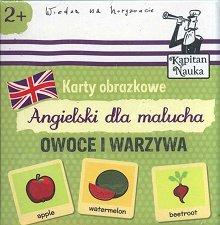 Owoce i warzywa Książeczka + 17 ilustrowanych kart