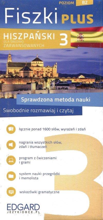 Hiszpański Fiszki PLUS dla średnio zaawansowanych 3 Fiszki + program + mp3 online