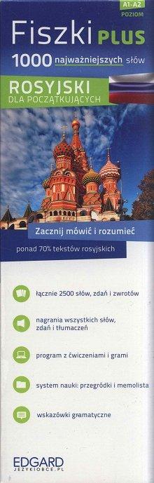 Rosyjski Fiszki PLUS 1000 najważniejszych słów dla początkujących Fiszki + CD-Rom