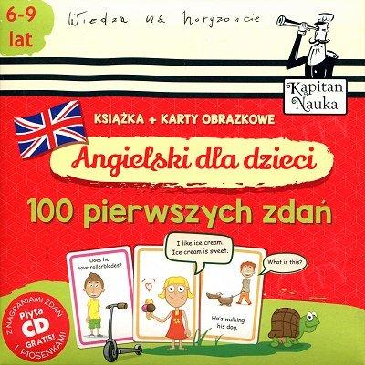 Angielski dla dzieci Karty obrazkowe. 100 pierwszych zdań Książeczka + 104 kolorowe karty