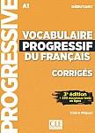 Vocabulaire Progressif Du Francais Débutant 3e édition Klucz