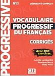 Vocabulaire progressif du Francais Niveau Débutant Complet A1.1 Klucz