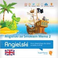 Angielski ze Smokiem Memo 2 Kurs słownictwa dla dzieci w wieku 4-6 lat (poziom podstawowy A0) Książka + kod dostępu