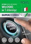 Szybki kurs Włoski w 1 miesiąc Super Zestaw: Kurs + tablica czasy i czasowniki