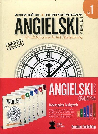 Angielski w tłumaczeniach. Gramatyka 1-6 Komplet 6 x Książka + CD mp3