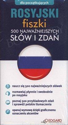 Rosyjski fiszki 500 najważniejszych słów i zdań 500 fiszek + instrukcja