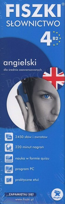 Fiszki Angielskie PREMIUM. Słownictwo 4 Fiszki + program + mp3 online