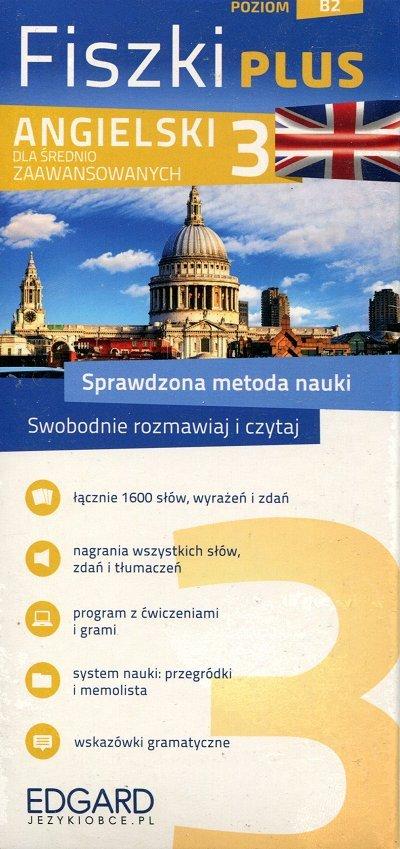Angielski Fiszki PLUS dla średnio zaawansowanych 3 Fiszki + program + mp3 online