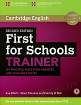 First for Schools Trainer (2015) Six Practice Tests with Answers, Teacher's Notes & Audio
