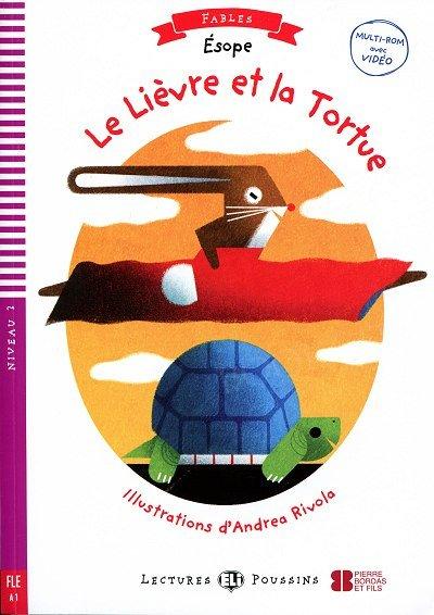 Le Lievre et la Tortue Książka + audio mp3