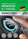Szybki kurs Niemiecki w 1 miesiąc Super Zestaw: Kurs + tablica czasy i czasowniki