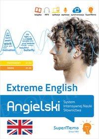 Extreme English Angielski System Intensywnej Nauki Słownictwa (poziom podstawowy A1-A2 i średni B1-B2) Książka + kod dostępu