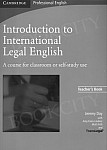 Introduction to International Legal English książka nauczyciela
