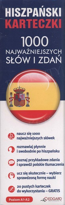 Hiszpański karteczki. 1000 najważnieszych słów i zdań.