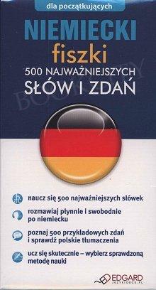 Niemiecki fiszki 500 najważniejszych słów i zdań 500 fiszek + instrukcja