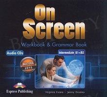 On Screen Intermediate B1+/B2 CD Matura Workbook & Grammar Book Audio CD
