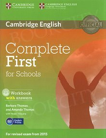 Complete First for Schools Workbook with Answers & Audio CD
