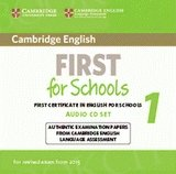 Cambridge English First for Schools 1 FCE (2015) Audio CDs (2)