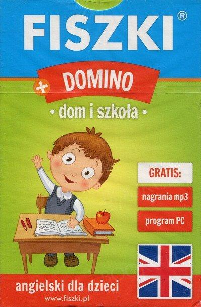 Fiszki Obrazkowe Angielski. Domino - Dom i szkoła Fiszki + program + mp3 online
