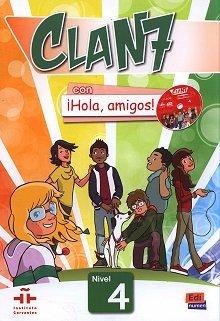 CLAN 7 con ¡Hola, amigos! Nivel 4 podręcznik